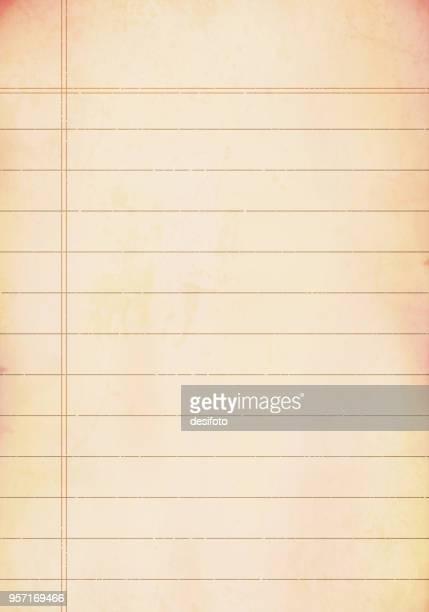 Vector background.Grunge lined paper sheet
