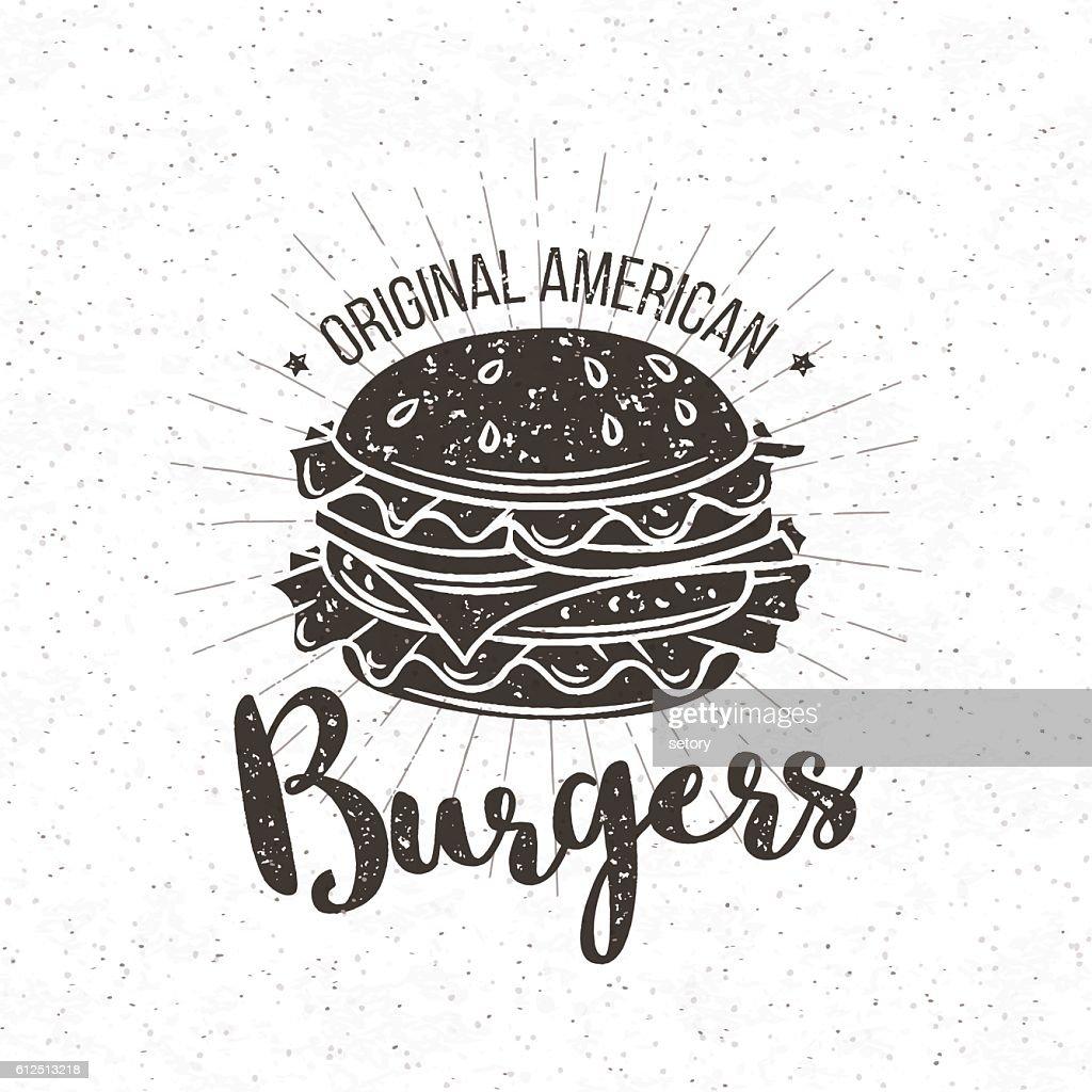 Vector badge burger