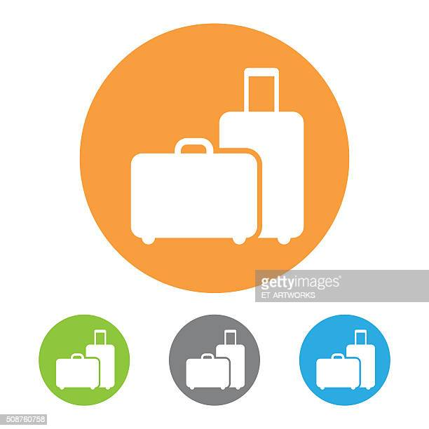 vector baggage icon - business travel stock illustrations, clip art, cartoons, & icons