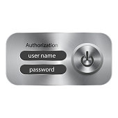 Vector banking authorization form