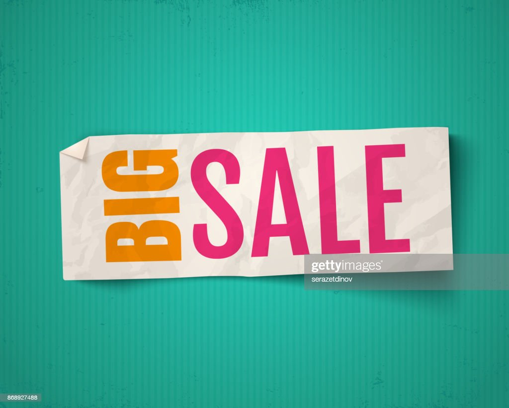 Vector banner for big sale.