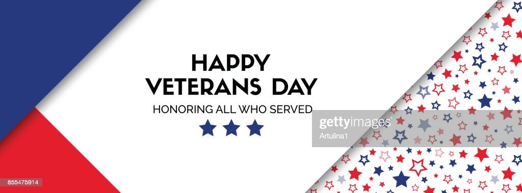 Vector banner for veterans day. Facebook size