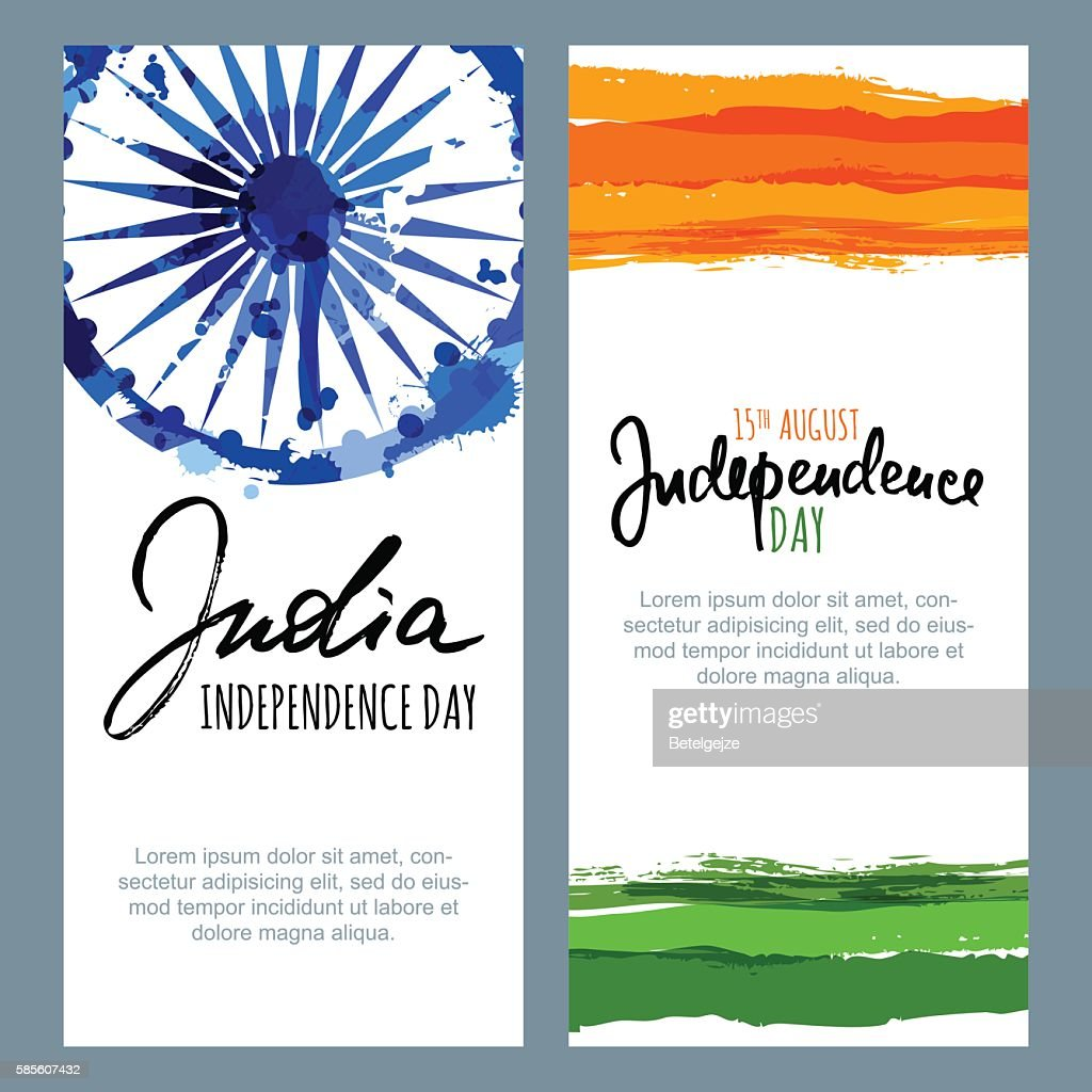 Vector banners and backgrounds. 15th of August, India Independence Day.