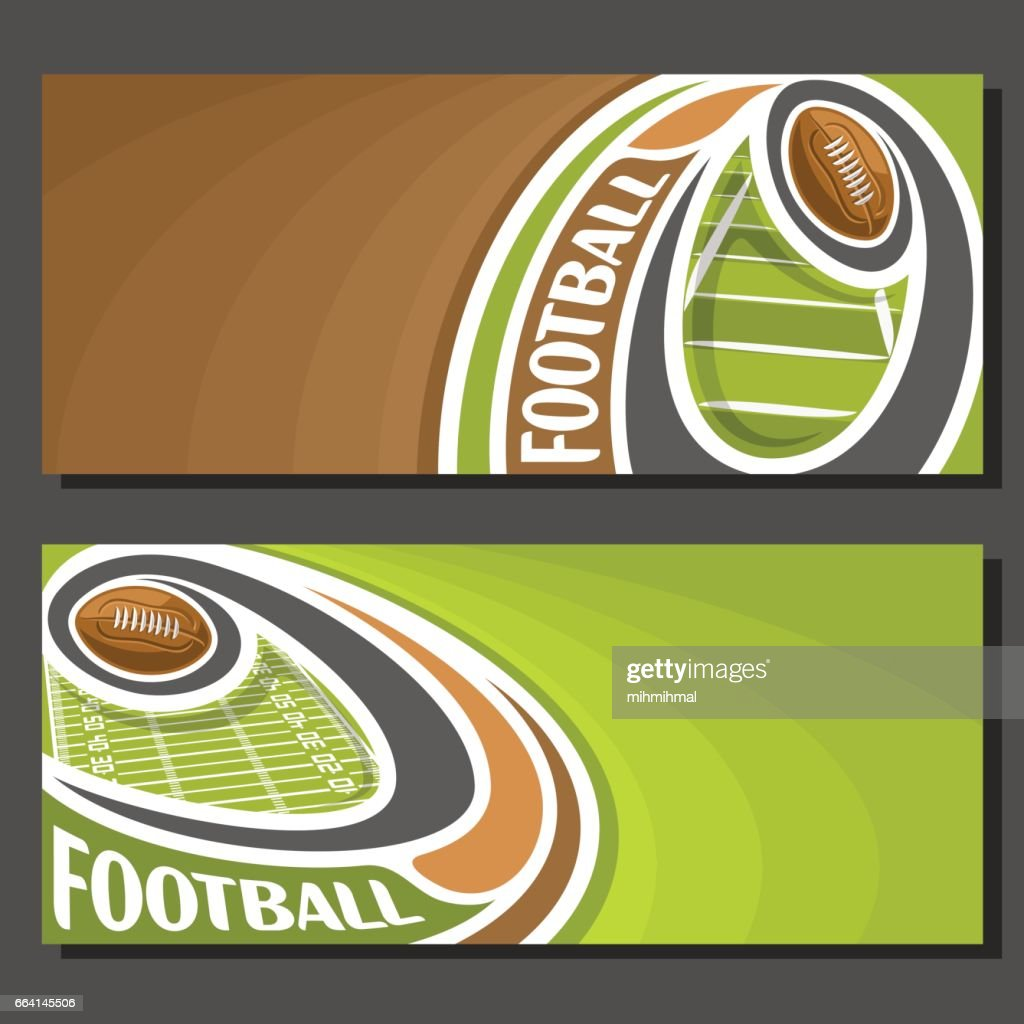 Vector banners for American Football
