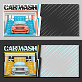 Vector banners for automatic Car Wash
