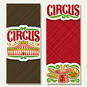 Vector banners for Circus