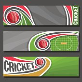 Vector Banners for Cricket game