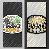 Vector banners for Finance