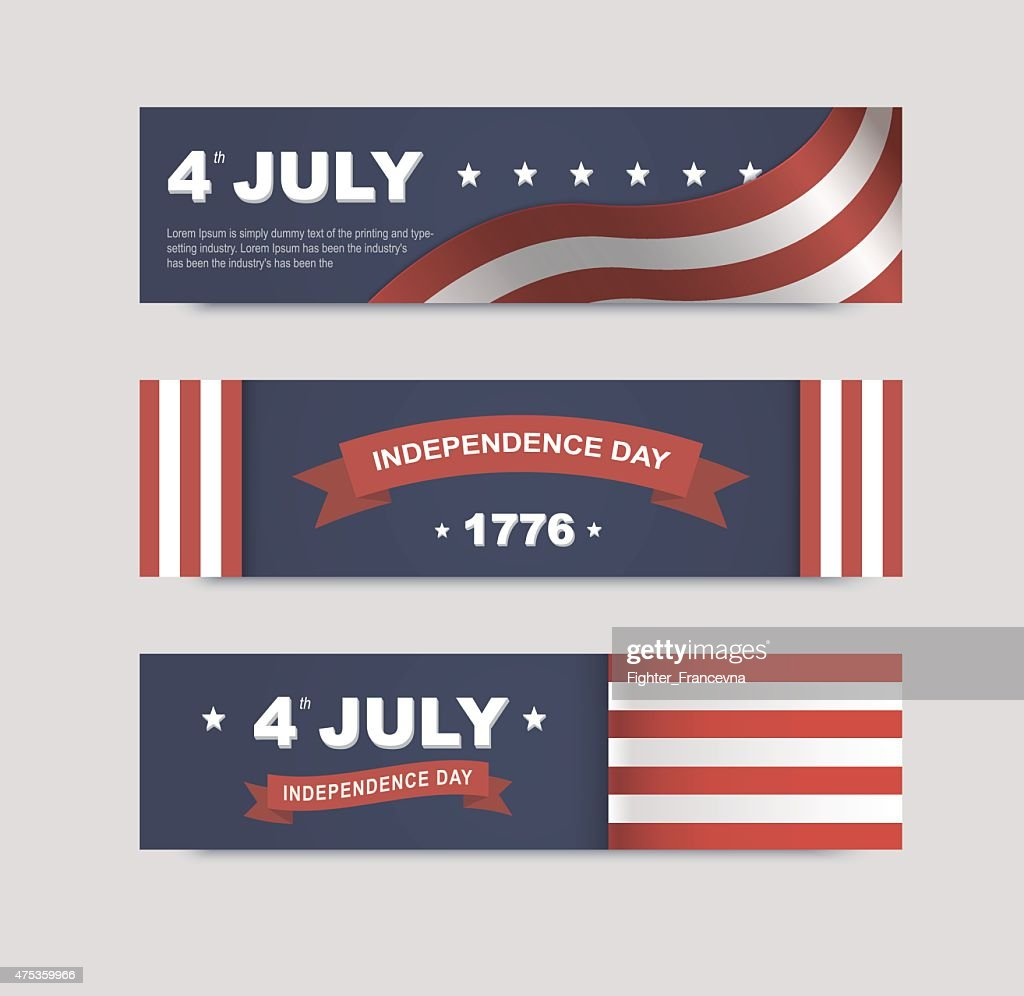 vector banners for the web to the Independence Day