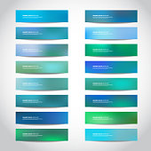 Vector banners templates