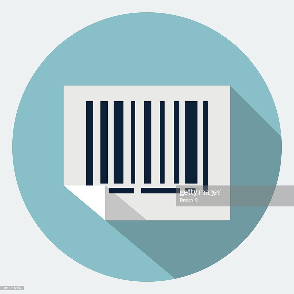 Vector bar code icon