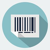 Vector bar code icon