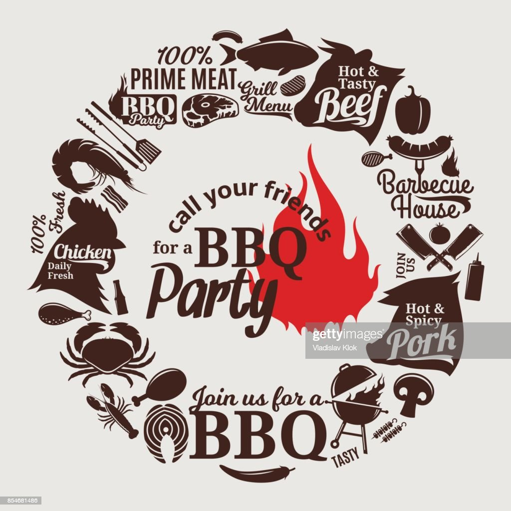 vector barbecue party invitation vector art getty images