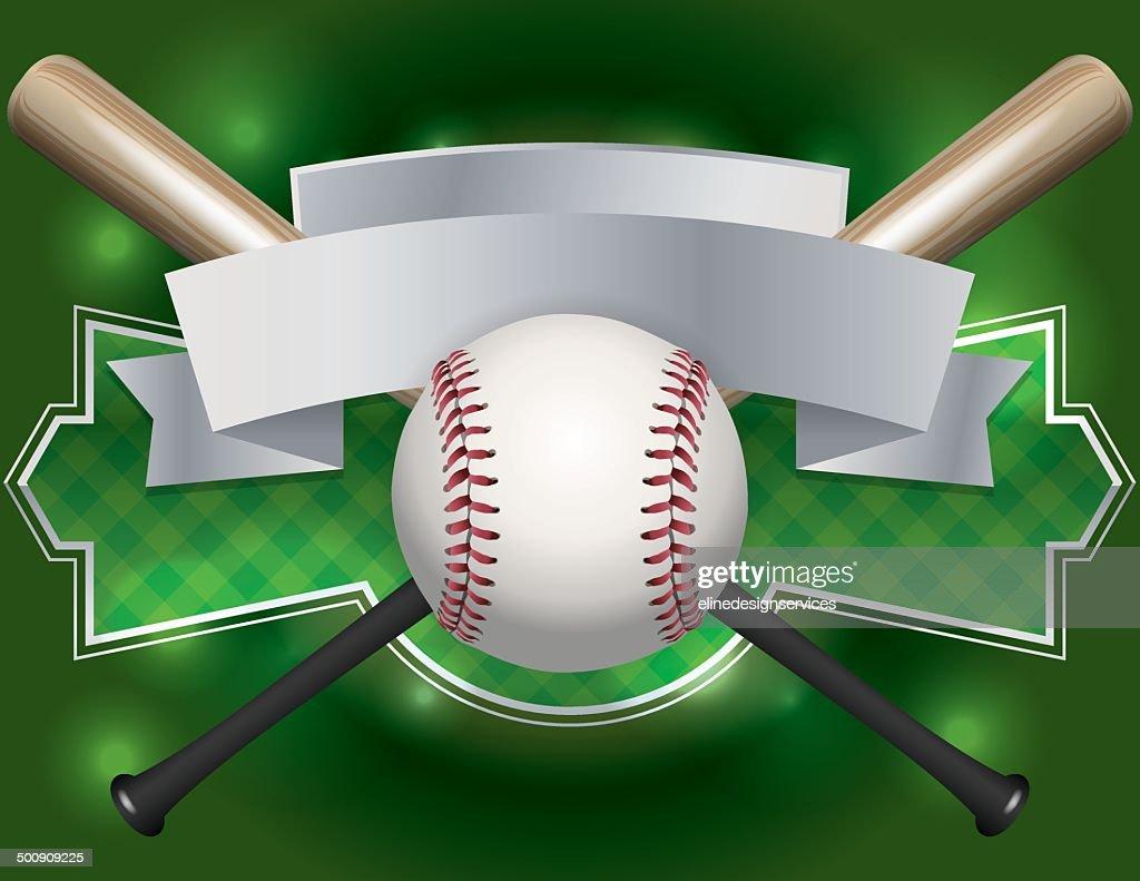 Vector Baseball Emblem and Banner Illustration