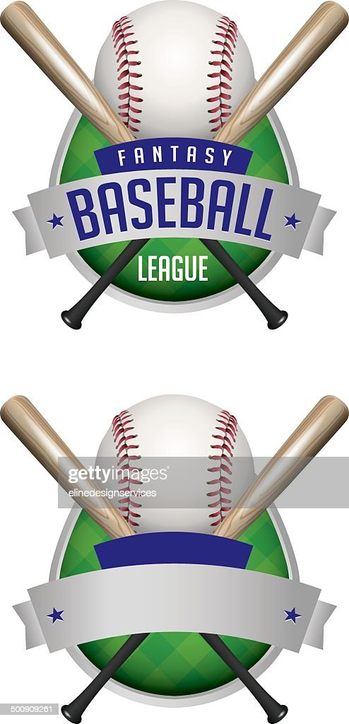 Vector Baseball Emblems Illustration