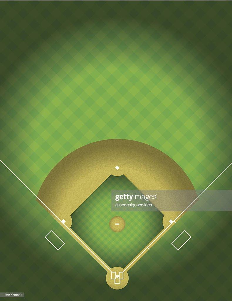 Vector Baseball Field