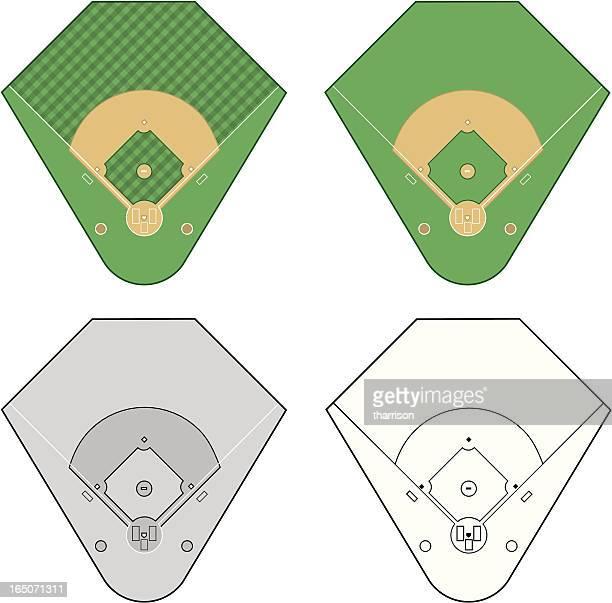 ベクトル野球フィールド - 球技場点のイラスト素材/クリップアート素材/マンガ素材/アイコン素材