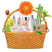 Vector Basket with SPA Cosmetics