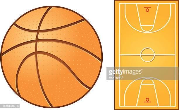 illustrations, cliparts, dessins animés et icônes de vecteur de basket-ball et court - arbitre de baseball