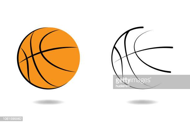 vector basketball icon - basketball ball stock illustrations, clip art, cartoons, & icons