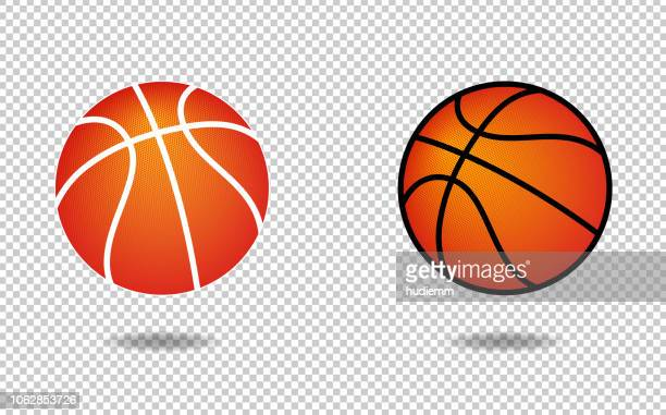 vector basketball icon with halftone pattern - basketball ball stock illustrations, clip art, cartoons, & icons