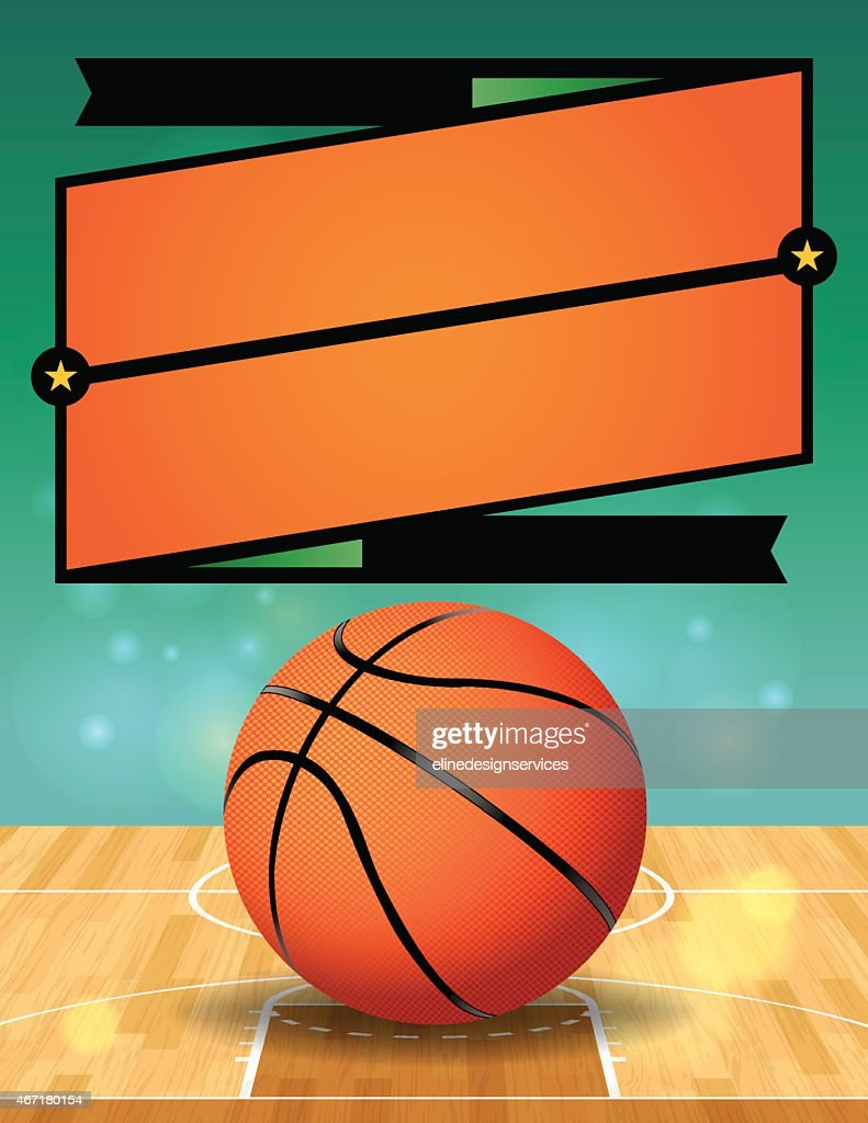 Vector Basketball League Flyer Illustration
