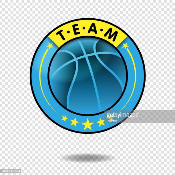 vector basketball team or tournament logo - sports league stock illustrations