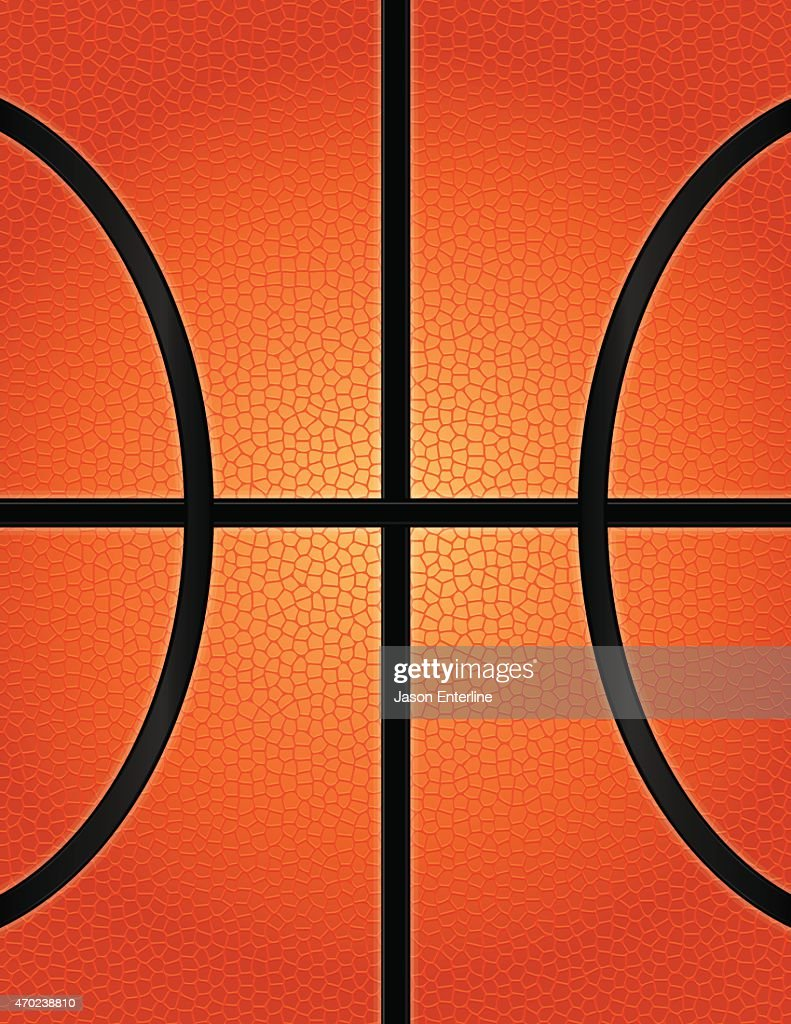 Vector Basketball Texture Background Illustration