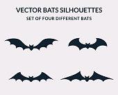 Vector bats silhouettes.