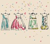 Vector beautiful clothes