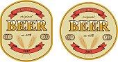 Vector beer label and beer mat template.