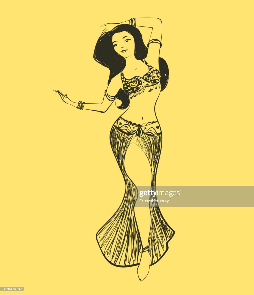 Vector belly dance illustration