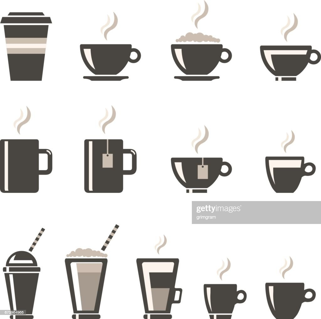 Vector Beverages Icon set.