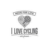 vector bicycle emblem