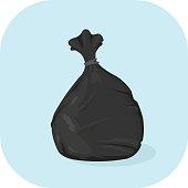 Vector Bin Bag Icon.