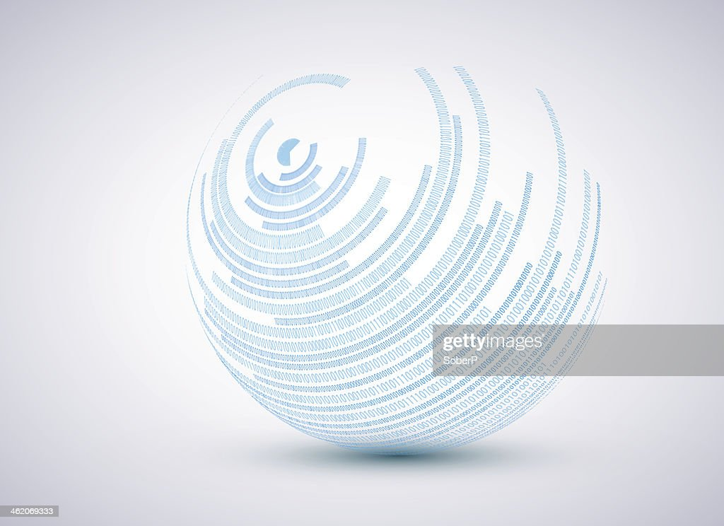 Vector binary sphere background.