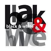 Vector black and white. Broken text