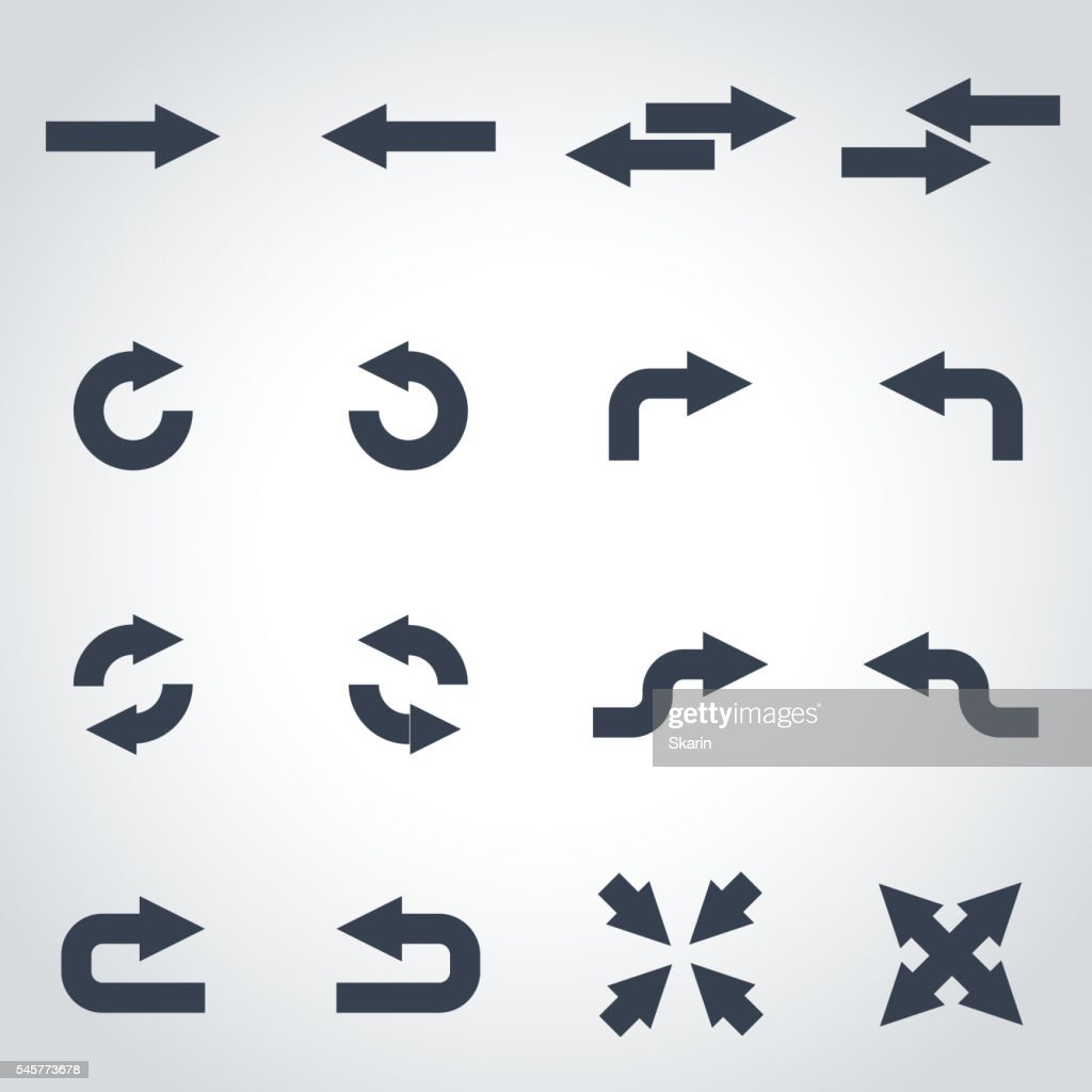 Vector black arrows icon set
