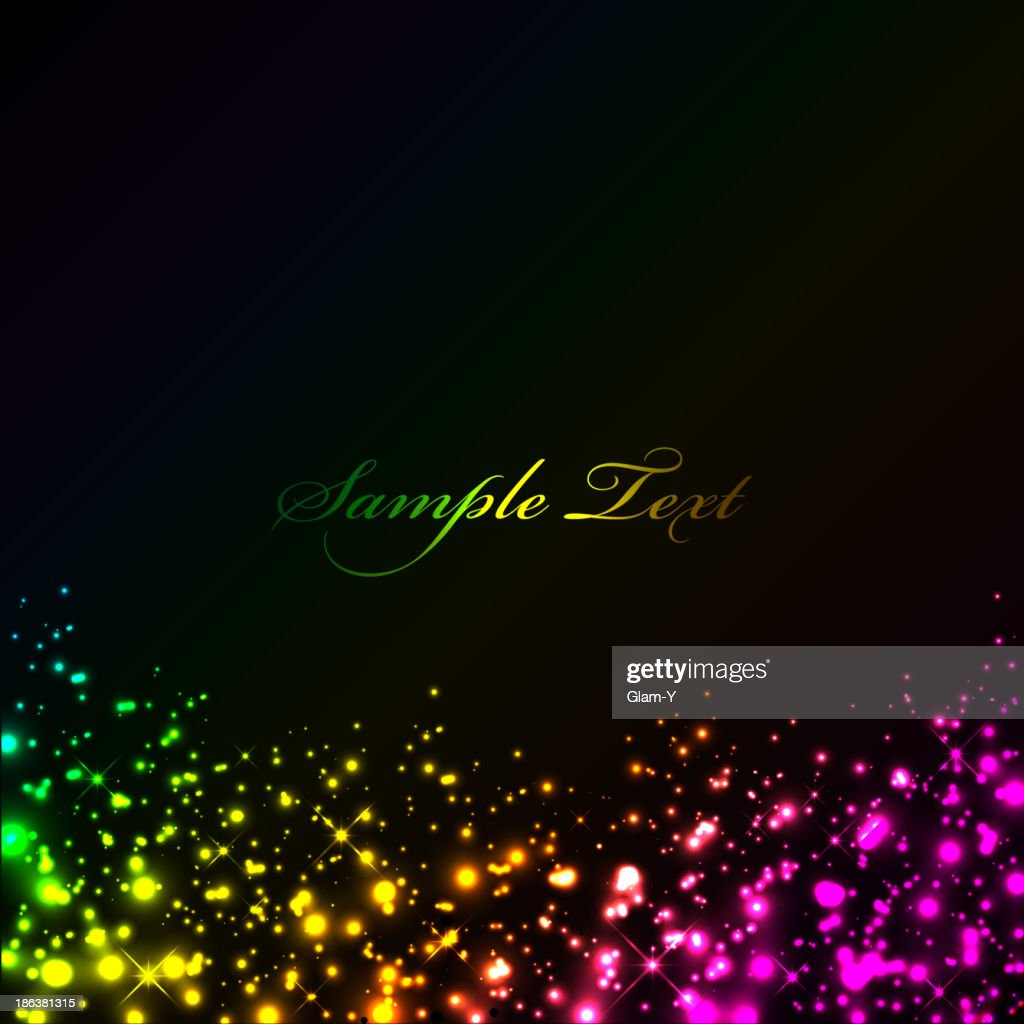 Vector black background with colorful lights