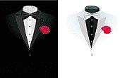 vector black business suit