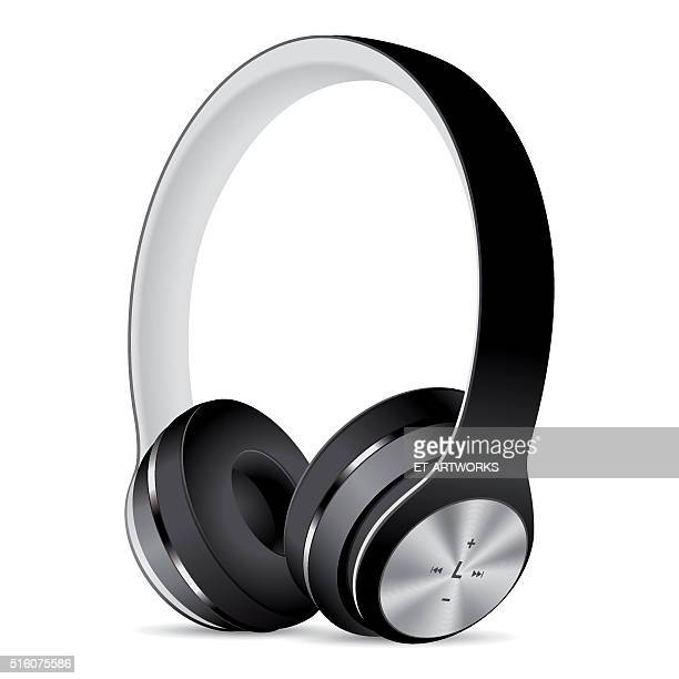 Vector Black Headphones