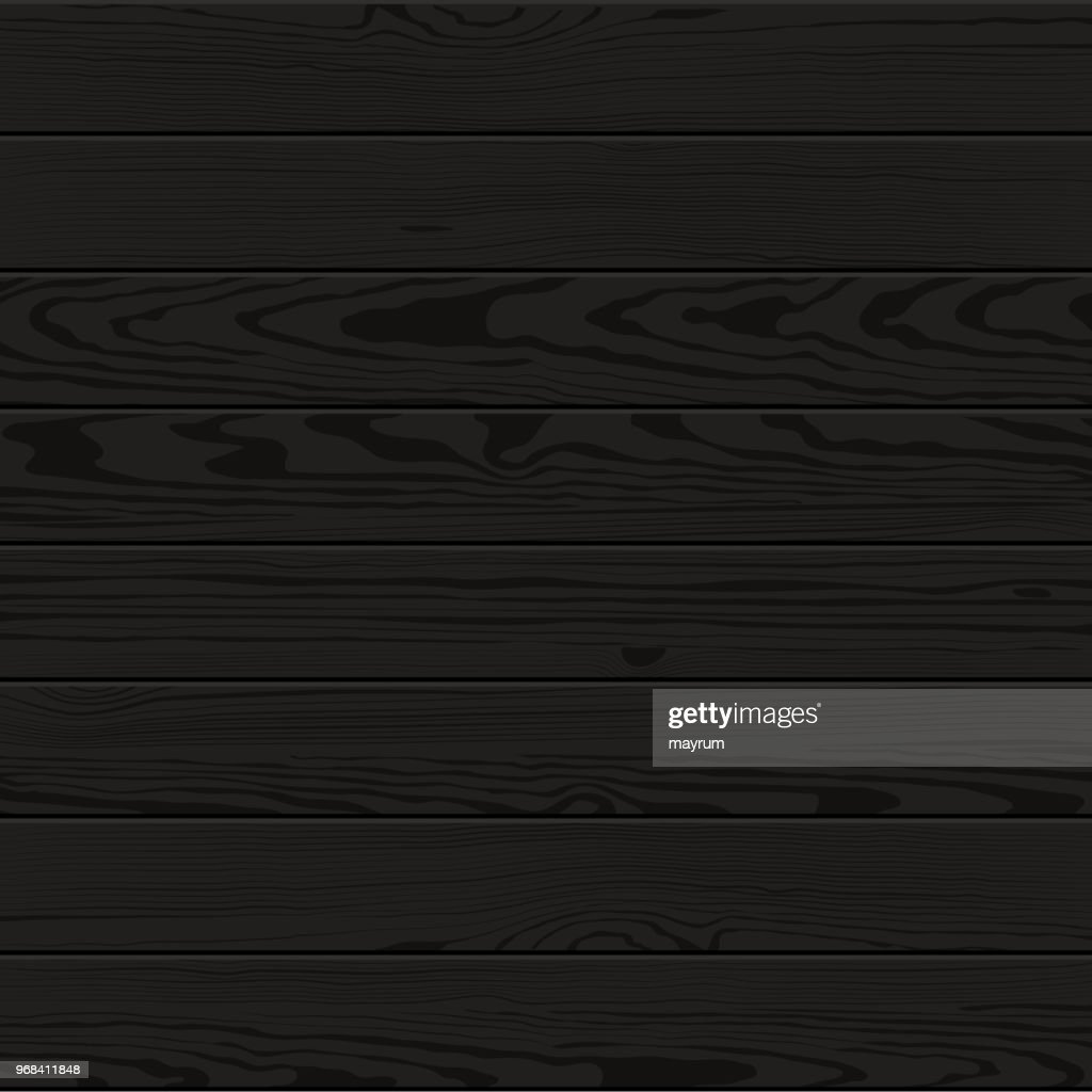 Vector black painted wood texture