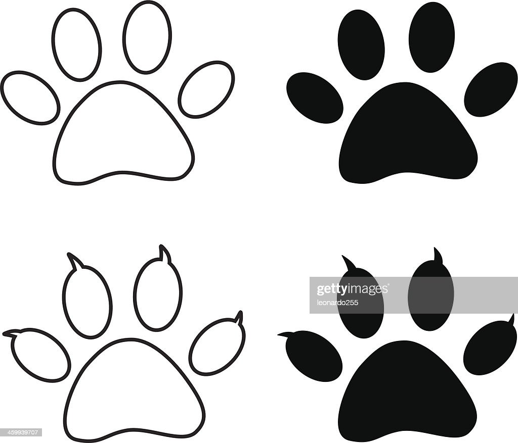 Vector - Black paw print
