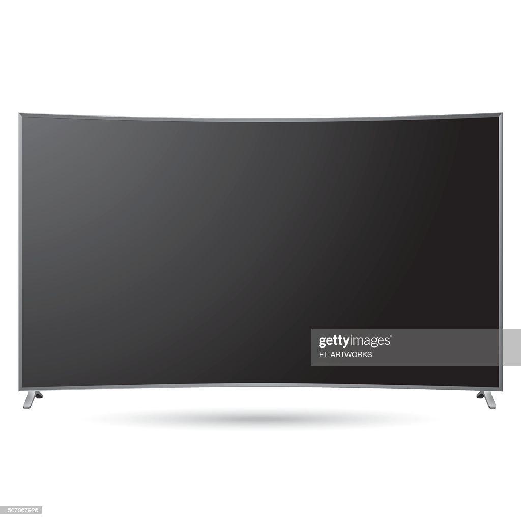 ベクトル黒のスマートテレビテンプレート ベクトルアート getty images