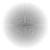 Vector black spiral isolated on white background.