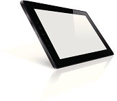 Vector Black Tablet PC with Blank Screen