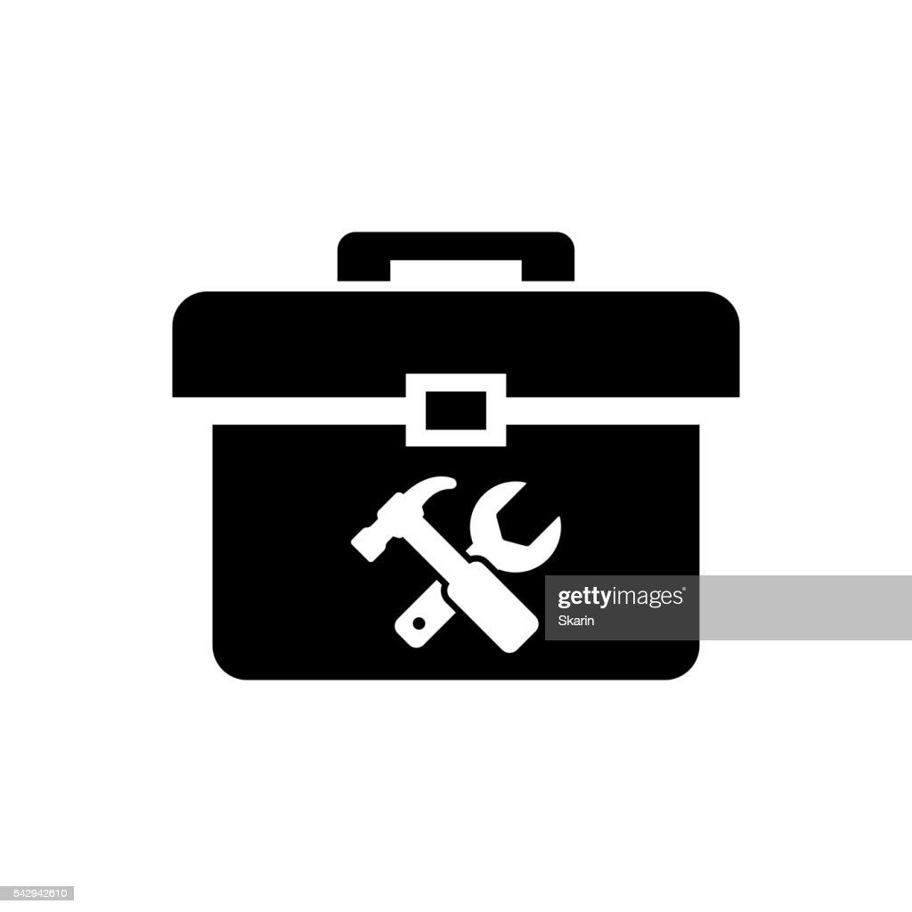 Vector black toolbox icon