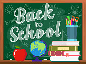 Vector blackboard and back to school concept