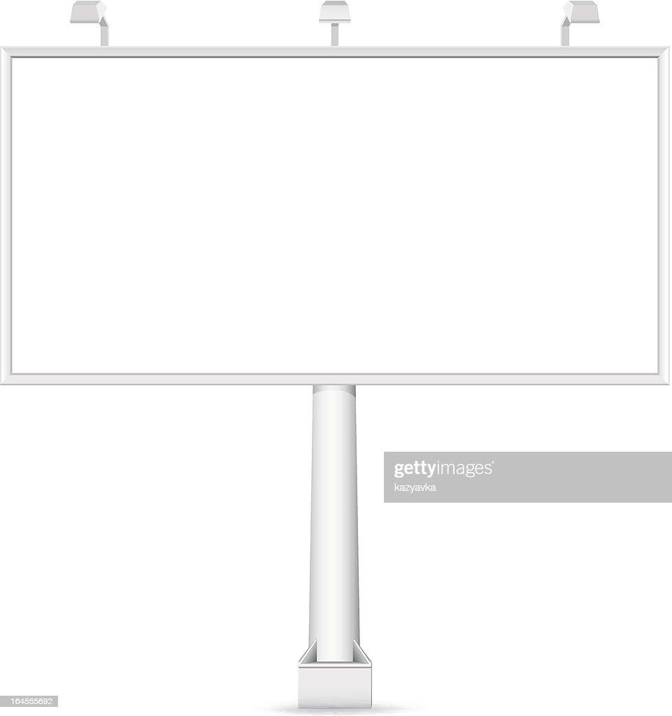 Vector blank Billboard