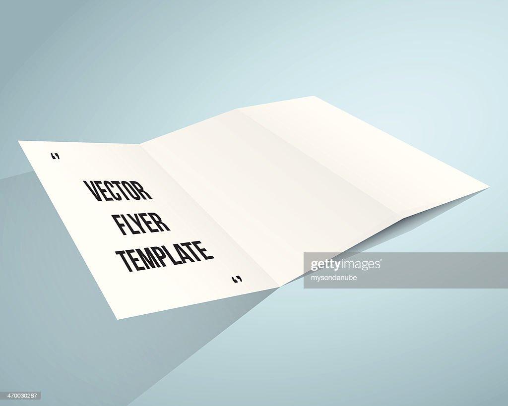 ベクター空白のパンフレットテンプレート ベクトルアート getty images